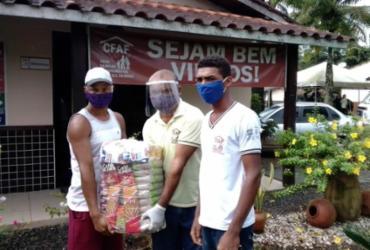 Mais de 300 famílias estão sendo beneficiadas com doações no Baixo Sul da Bahia