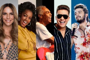 Ivete Sangalo, Gilberto Gil e Iza, Wesley Safadão e Luan Santana fazem lives neste sábado; Confira a programação | Divulgação