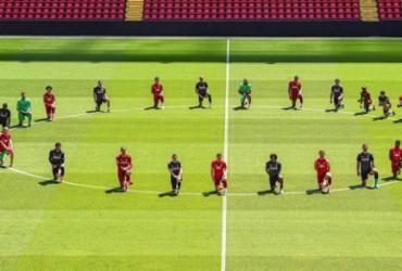 Liverpool se solidariza com manifestantes no caso George Floyd | Reprodução | Twitter