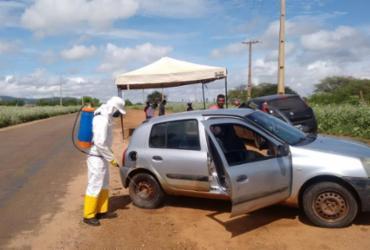 Ação de desinfecção na cidade de Sento Sé | Foto: Vigilância Sanitária - Vigilância Sanitária de Sento Sé