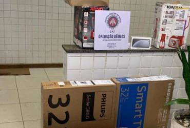 Quarteto é preso em Pirajá com produtos eletrônicos roubados | Divulgação | SSP