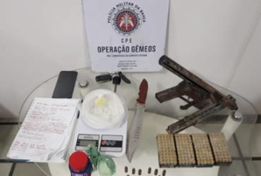 Ação em São Cristóvão apreende metralhadora e 200 munições | Divulgação | SSP-BA