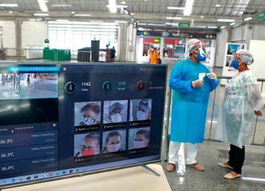 Câmeras monitoram temperatura de passageiros no Metrô de Salvador   Mateus Pereira   GOVBA