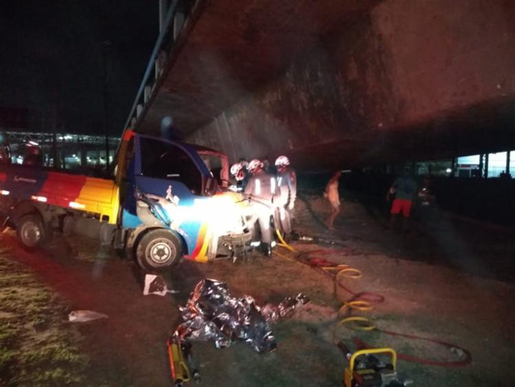 Acidente ocorreu na noite deste domingo | Foto: Ascom | GBM - Foto: Ascom | GBM