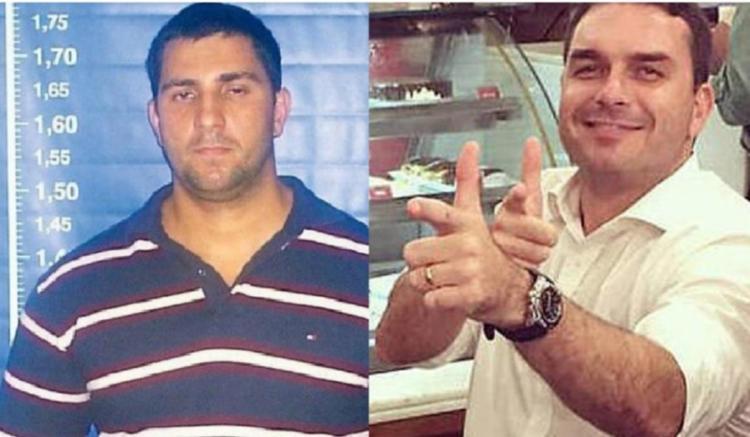 Segundo as investigações, Flávio Bolsonaro já visitou Adriano Nóbrega na cadeia enquanto o miliciano respondia processo por homicídio | Foto: Reprodução | UOL - Foto: Reprodução | UOL