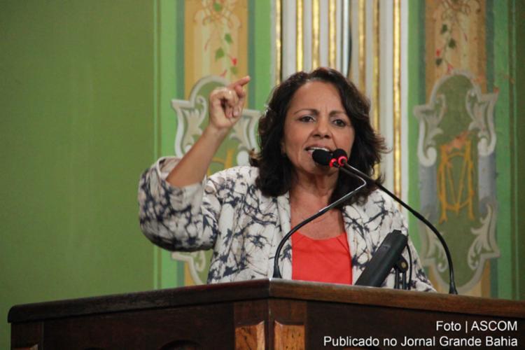 vereadora do PC do B, Aladilce Souza, diz que até os tributos federais foram adiados - Foto: Ascom/ Câmara Municipal