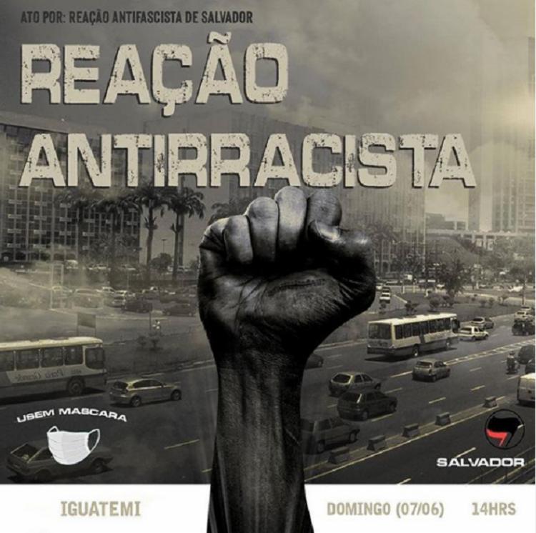 No instagram, o grupo informou local, data e horário do protesto | Foto: Reprodução | Instagram - Foto: Reprodução | Instagram