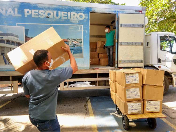 A Bahia Pesca recebeu 100 mil máscaras e cinco mil unidades de álcool gel - Foto: Divulgação
