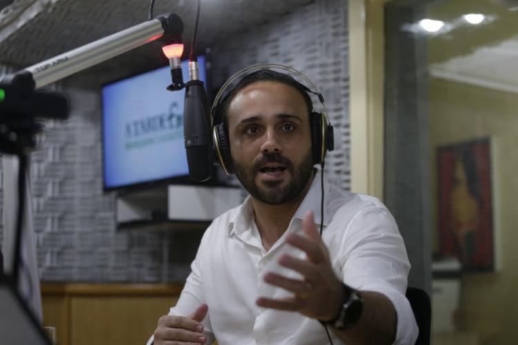 Bruno Barral participou de entrevista no 'Isso é Bahia' | Foto: Joá Souza | Ag. A TARDE - Foto: Joá Souza | Ag. A TARDE