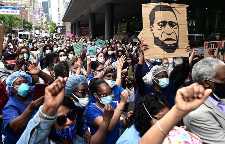 Morte de Floyd desencadeou uma série de protestos nos EUA | Foto: Johannes Eisele | AFP - Foto: Johannes Eisele | AFP