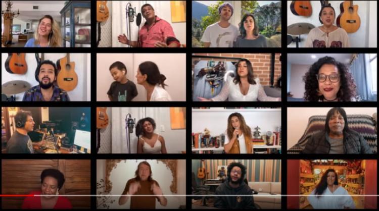Ao final do vídeo, o cantor Stevie Wonder também felicita o cantor   Foto: Reprodução - Foto: Reprodução