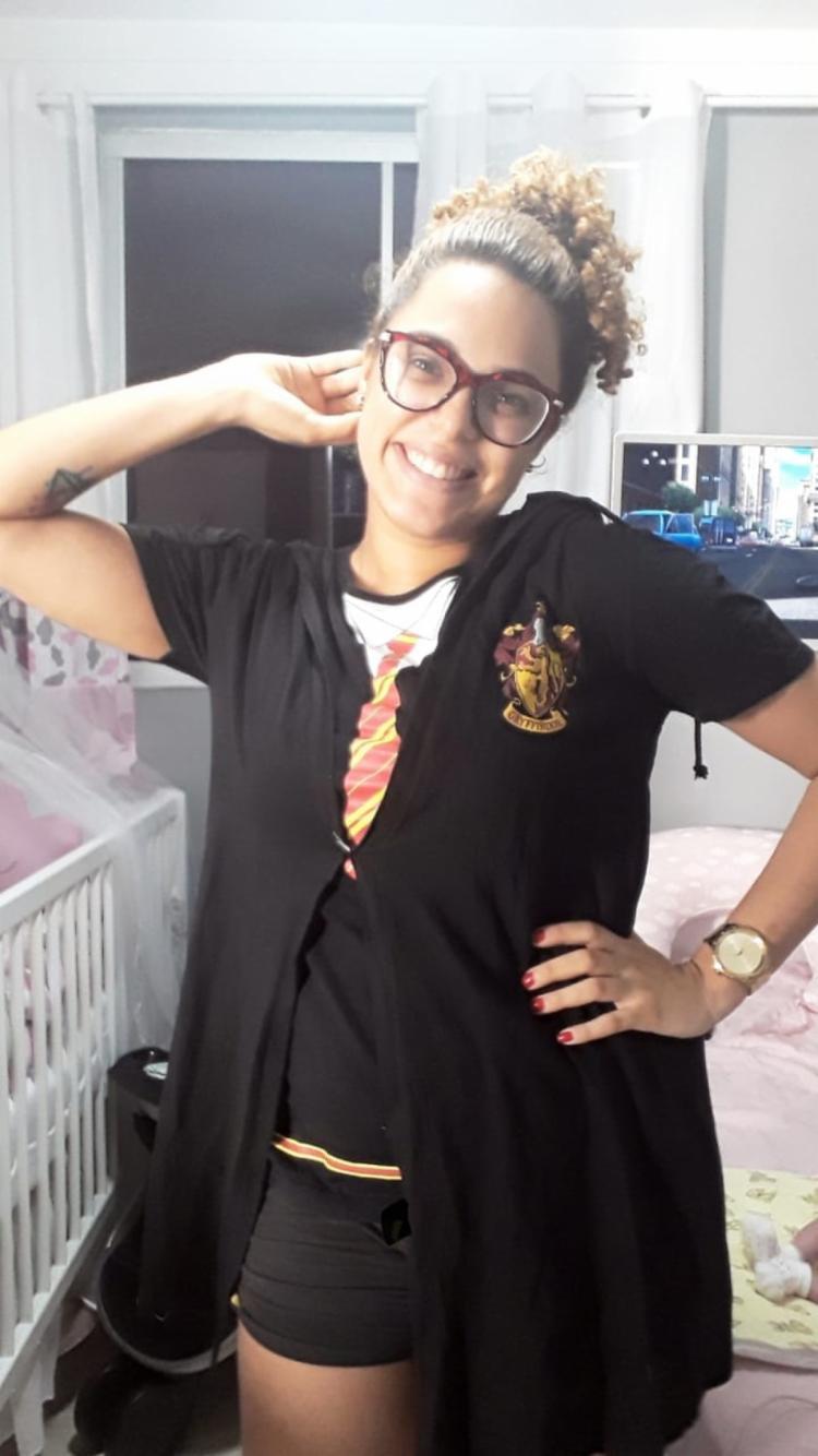 Alana Oliveira possui duas tatuagens em homenagem ao bruxinho | Foto: Reprodução | Arquivo Pessoal