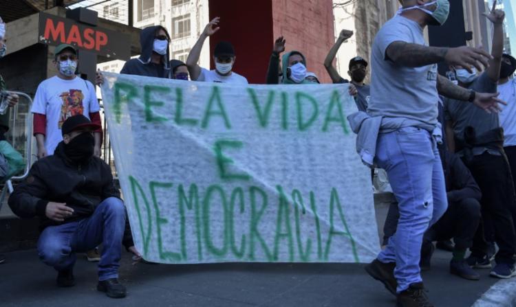 No último fina de semana, São Paulo foi cenário de manifestação pró-democracia - Foto: afp
