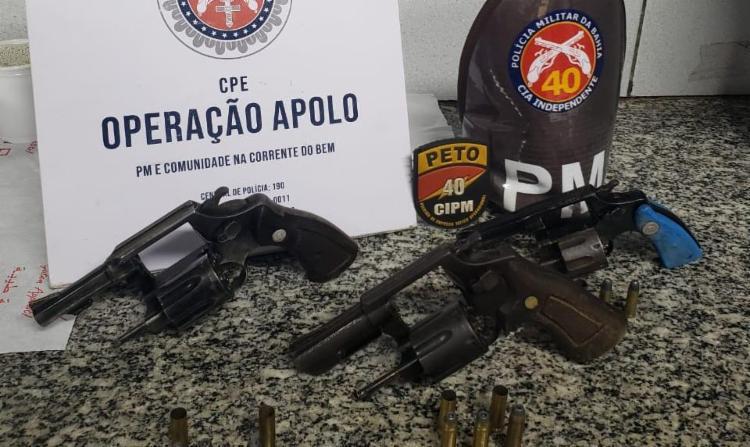 Armas de munições foram apreendidas | Foto: Divulgação | SSP - Foto: Divulgação | SSP