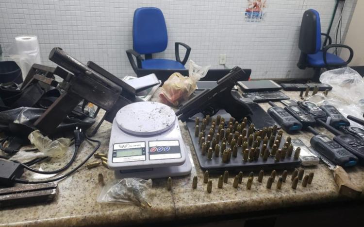 Parte do material apreendido na operação | Foto: Divulgação | SSP - Foto: Divulgação | SSP