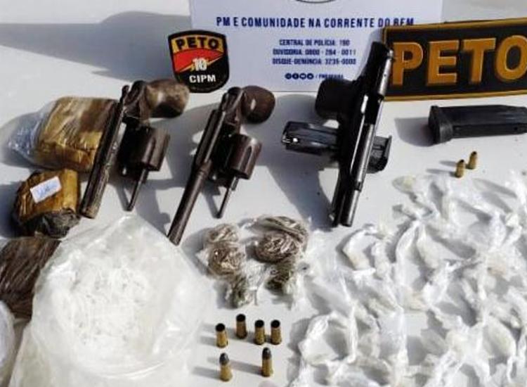 Material foi encontrado com suspeitos - Foto: Divulgação | SSP