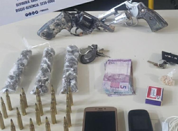 Material foi encontrado com os dois suspeitos | Foto: Divulgação | SSP - Foto: Divulgação | SSP