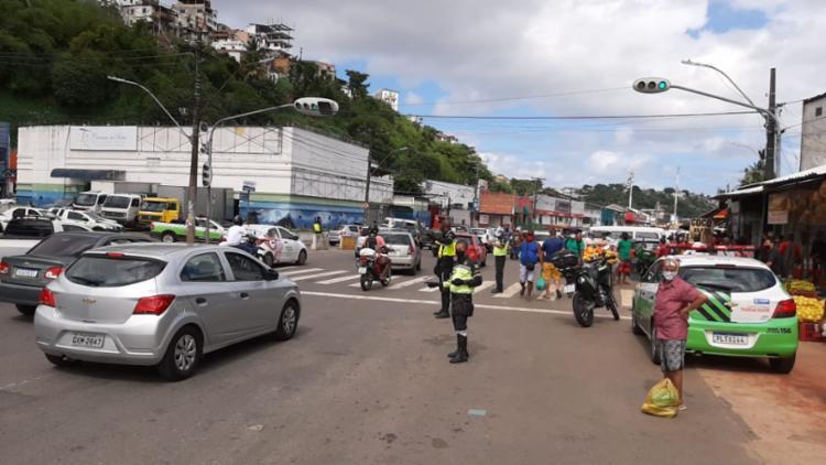 Congestionamento registrado na região | Foto: Transalvador | Twitter - Foto: Transalvador | Twitter