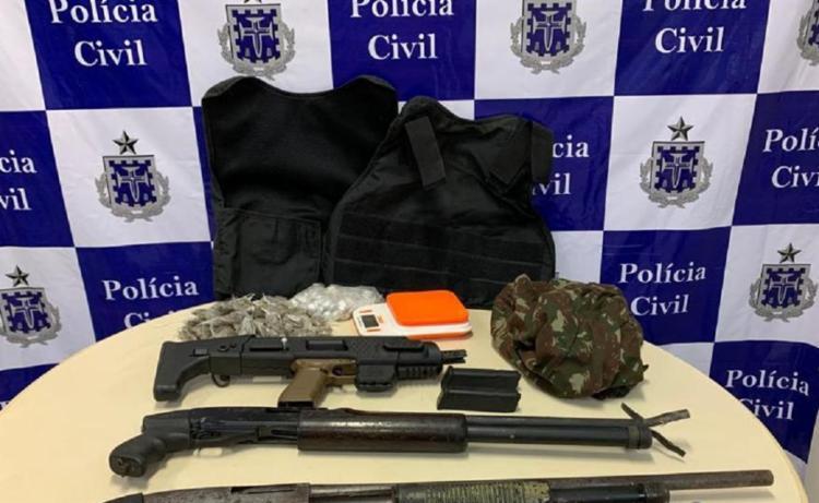Armas e drogas foram apreendidas durante a ação | Foto: Divulgação | SSP - Foto: Divulgação | SSP