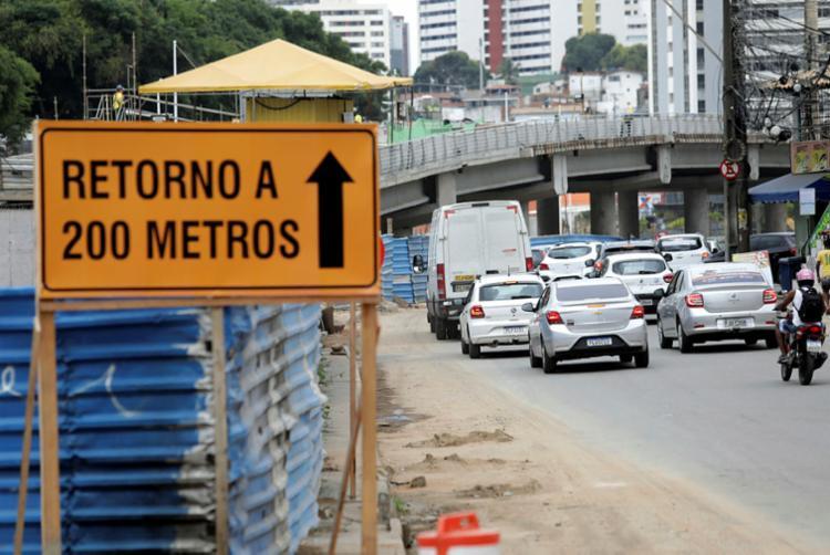 Mudanças na avenida ACM são motivadas por obras do BRT | Foto: Adilton Venegeroles | Ag. A TARDE - Foto: Adilton Venegeroles | Ag. A TARDE
