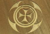 Símbolo misterioso aparece em campo de trigo na França | Foto: Reprodução | Euro Weekly