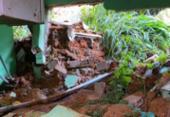 Chuva provoca desabamento de imóvel no Jardim Cajazeiras | Foto: Cidadão Repórter | Via WhatsApp
