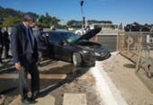 Segurança de Bolsonaro fica ferido após acidente em carro do comboio presidencial | Foto: Pedro Henrique Gomes | G1