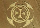 Símbolo misterioso aparece em campo de trigo na França   Reprodução   Euro Weekly
