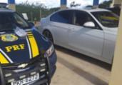 Homem é flagrado com 1.500 comprimidos de rebite em BMW | Divulgação | PRF