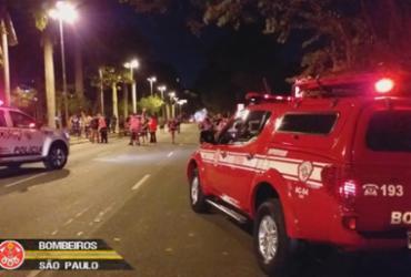 Avião cai em São Paulo e uma pessoa morre carbonizada no acidente | Reprodução | Corpo de Bombeiros SP