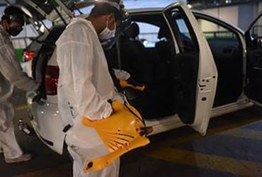 Centro de Higienização para motoristas e entregadores de aplicativos é instalado | Divulgação | Uber