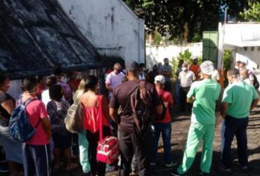 Funcionários de hospital na Santa Mônica protestam por causa de atraso salarial | Divulgação | SindSaúde