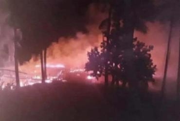 Incêndio destrói quiosques e área de vegetação nativa em Trancoso | Reprodução | Redes Sociais