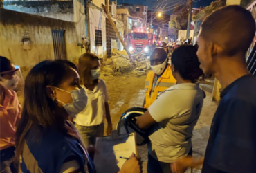Famílias são atendidas após desabamento de marquise em Periperi | Divulgação