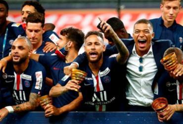 PSG vence Lyon nos pênaltis e conquista a Copa da Liga Francesa   Geoffroy Van Der Hasselt   AFP