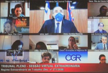 Tribunal Pleno julga mais de 200 processos em Sessão Plenária virtual | Divulgação | TJ-BA