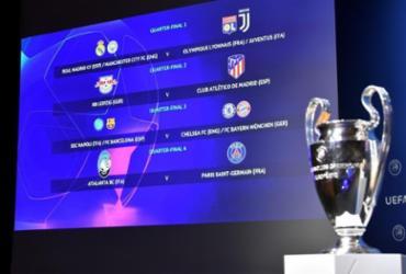 Uefa anuncia confrontos das quartas de final da Liga dos Campeões | Harold Cunningham | UEFA | AFP
