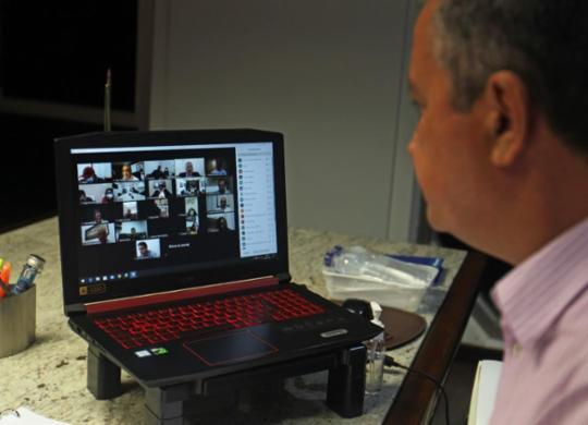 Rui Costa faz reunião virtual com 31 prefeitos sobre pandemia | Carol Garcia | GOVBA