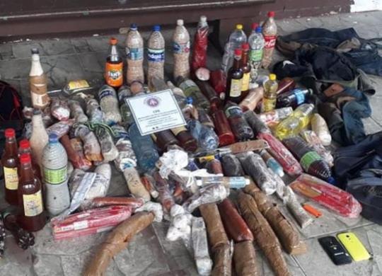 PM apreende materiais que seriam arremessados para dentro de presídio em Salvador | Divulgação | SSP