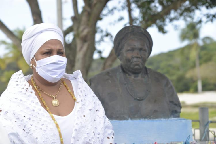 Busto de Mãe Gilda foi atacado pela primeira vez em 2016   Foto: Fabya Reis   Sepromi - Foto: Fabya Reis   Sepromi