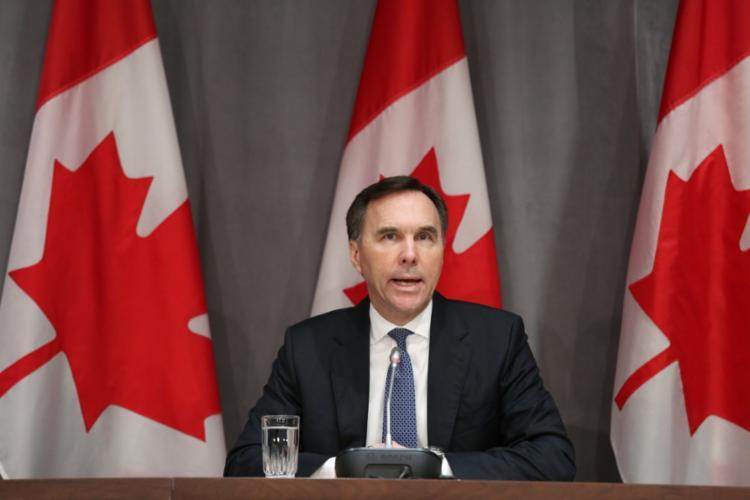 Ministro das Finanças, Bill Morneau falou diante da Câmara dos Comuns, em Ottawa - Foto: Dave Chan   AFP