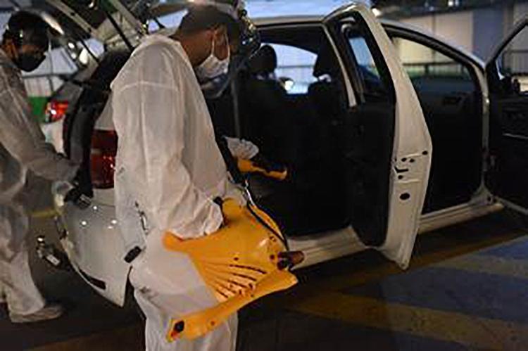 Alémd a limpesa, local também distribui kits com itens de proteção e higiene | Foto: Divulgação | Uber - Foto: Divulgação | Uber