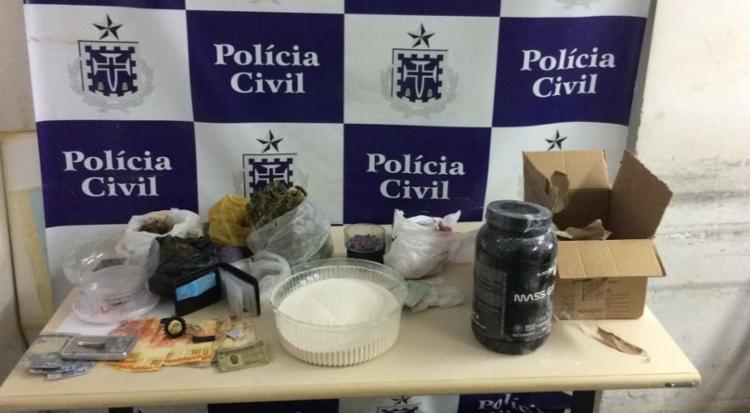 Droga era comercializada escondida em embalagem de suplemento alimentar | Foto: Divulgação | SSP - Foto: Divulgação | SSP