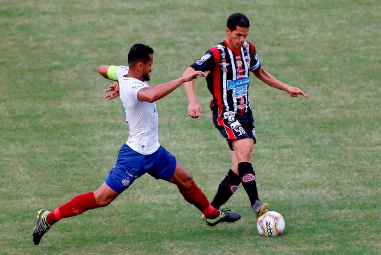 O único gol da partida foi anotado pelo veterano Magno Alves   Foto: Felipe Oliveira   EC Bahia - Foto: Felipe Oliveira   EC Bahia