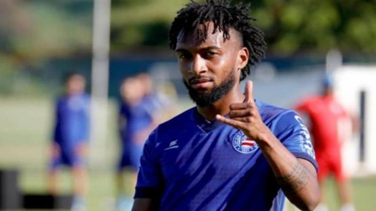 Atacante agradeceu oportunidade de atuar pelo Bahia   Foto: Felipe Oliveira   E.C.Bahia - Foto: Felipe Oliveira   E.C.Bahia