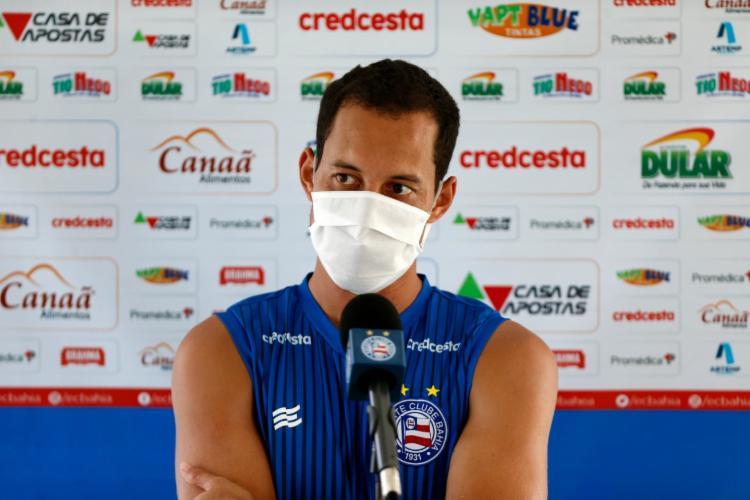 Rodriguinho disse estar em seu melhor momento da carreira | Foto: Felipe Oliveira | E.C.Bahia - Foto: Felipe Oliveira | E.C.Bahia