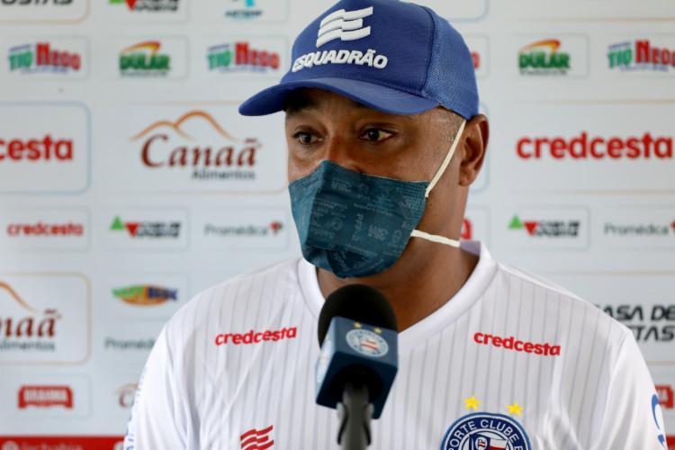 Treinador falou sobre a escolha das equipes   Foto: Felipe Oliveira   E.C.Bahia - Foto: Felipe Oliveira   E.C.Bahia