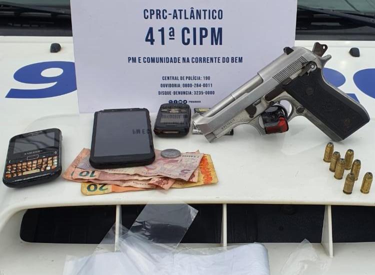 Material foi encontrado com suspeito - Foto: Divulgação | SSP