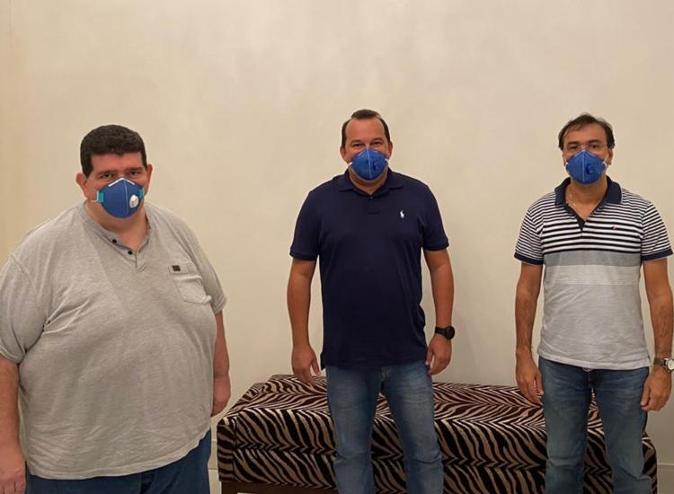 Alipinho, Geraldo Júnior e Alex Futuca se reuniram nesta quarta-feira, 29 | Foto: Divulgação - Foto: Divulgação