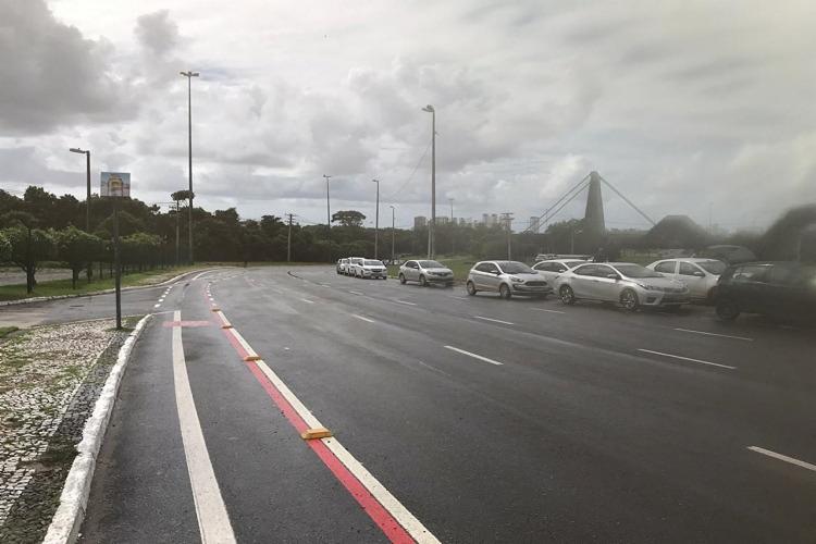 Motoristas saíram em carreata pela Avenida Paralela | Foto: Divulgação - Foto: Divulgação